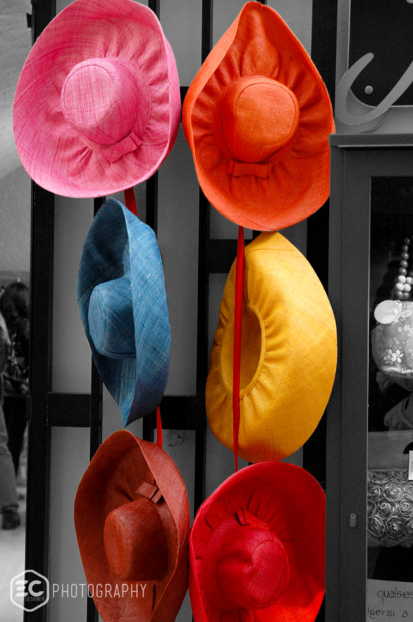 colorful summer hats